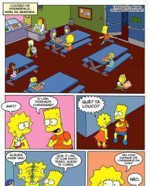 The Simpsons – Bart e Lisa fodem na escola